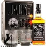 Виски Джек Дэниэлс 40% 0,7 л. в металлической коробке + 2 стакана