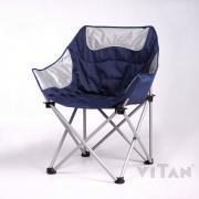 Кресло «Ракушка» серо-синий