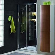 Душевые двери GEO 6 раздвижные  120 см (1/2,2/2 - коробки), закаленное стекло, серебряный блеск