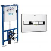 ROCA Комплект: PRO инсталяция для унитаза, PRO кнопка