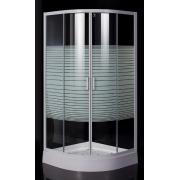 "Душевая кабина TISZA (AMUR) 90*90*200 см, на мелком поддоне, профиль белый, стекло ""Frizek"""