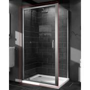 Душевые двери X1 распашная для ниши и боковой стенки  90*190см (проф гл хром, стекло прозр)