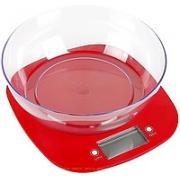 ВЕСЫ (ДЛЯ КУХНИ) - KES-1PR (красные, с чашей, макс-5кг) (GRUNHELM)