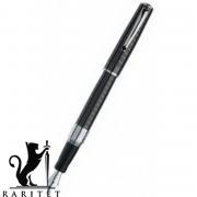 Ручка итальянская Marlen M09.195 FP. Black. RUBENS BLACK. Metal-DarkG rey.