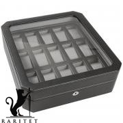 Шкатулка для часов WOLF Windsor 15 pc Watch Box w/Glass 4585029
