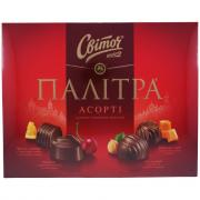 Конфеты Світоч Палитра Ассорти молочный шоколад 200г