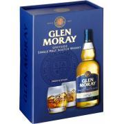 Виски Glen Moray Peated Single Malt 0,7л 40% под.наб+2бок (Шотландия, Спейсайд, ТМ Glen Moray)