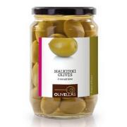 Оливки зеленые Olivellas green 370 мл с/к стекло (Греция, Халкидики, ТМ Olivellas)