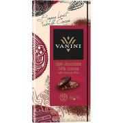 Шоколад Vanini 74% темный с какао бобами 100г (Италия, ТМ Vanini)
