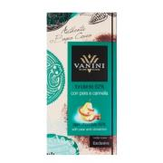 Шоколад Vanini 62% темный с грушей и корицей 100г (Италия, ТМ Vanini)