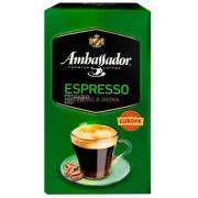 Кофе молотый Ambassador Espresso 225г в/у (Украина, ТМ Ambassador)