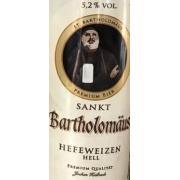 Пиво светлое Hefeweizen Hell 0,5л 5,2% ж/б (Германия, ТМ Sankt Bortholomaus)