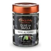 Оливки Cinquina черные Al Forno 314г c/к без рассола (Италия, ТМ Cinquina)