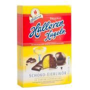 Конфеты Halloren Kugeln Schoko eierlik?r 125г (Германия, ТМ Halloren)