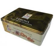 Печенье Vicenzi Millefoglie Verona Balcone di Giulietta 375г ж/б (Италия, ТМ Vicenzi)
