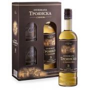 Ракия Troyanska Plum Aged 3 года 0,7л 40% кор +2 бокала (Болгария, ТМ Troyanska)