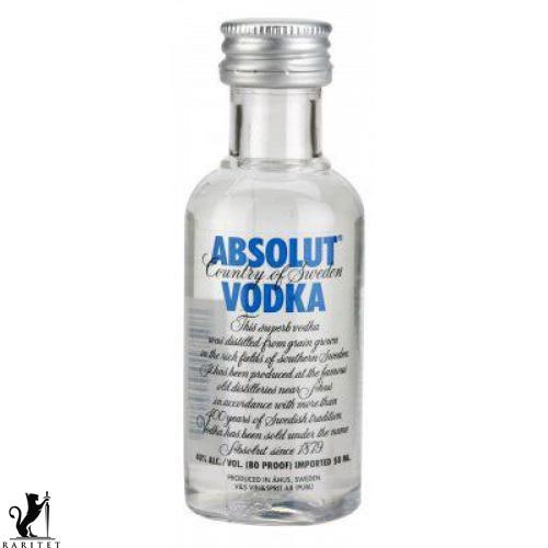 Комплект Водка  ABSOLUT  0,05л. 40%*10 шт