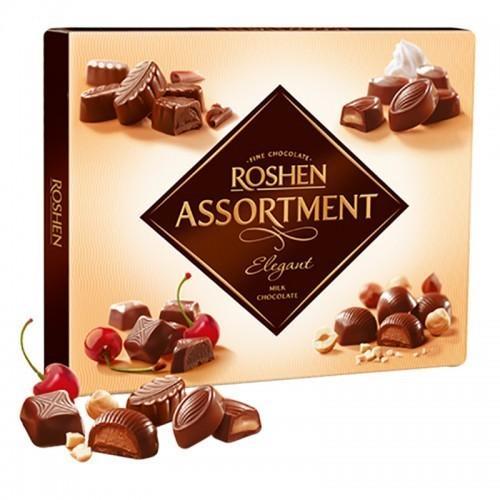 Конфеты Roshen Assortment elegant молочный шоколад 145г