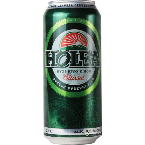 Пиво светлое Holba Classic 0,5л 3,5% ж/б (Чехия, ТМ Holba)