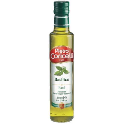 Оливковое масло Pietro Coricelli Extra Virgin Flavoured Basil с базиликом 0,25л (Италия, ТМ Pietro Coricelli)