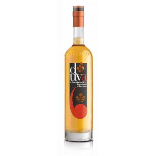Grappa Mazzetti виноградная D'Uva 0,7л 40% дер.кор (Италия,Пьемонт,ТМ Mazzetti) EA0646C