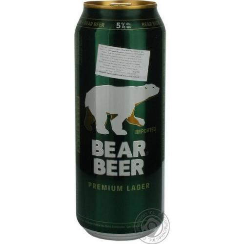 Пиво светлое Beаr Beer 0,5л 5% ж/б (Дания, ТМ Beаr Beer)