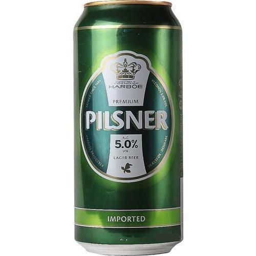 Пиво светлое Harboe Pilsener 0,5л 5% ж/б (Дания, ТМ Harboe)