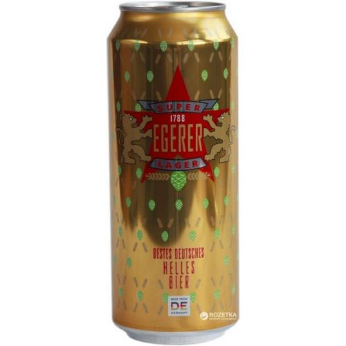 Пиво светлое Super Lager Egerer 0,5л 4,8% ж/б (Германия, ТМ Egerer)
