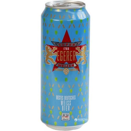 """Пиво Egerer светлое пшеничное """"Super Weizen Egerer"""" 0,5л 5,2% ж/б (Германия, ТМ """"Egerer"""")"""