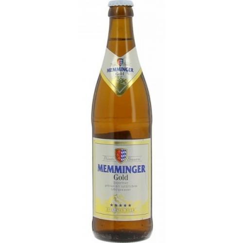 """Пиво Memminger светлое """"Memminger Gold"""" 0,5л 5,3% ж/б (Германия, ТМ """"Memminger"""")"""