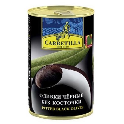 Оливки черные Carretilla с/к 300г ж/б (Испания, ТМ Carretilla)