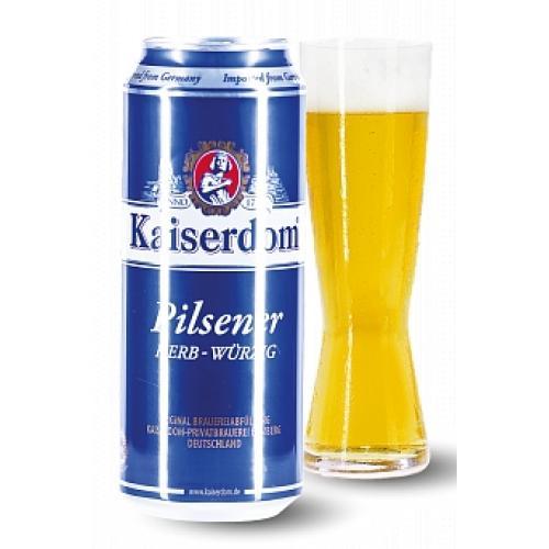 Пиво светлое пшеничное Hefe-Wei?bier 0,25л 4,7% ж/б (Германия, Бавария, ТМ Kaiserdom)