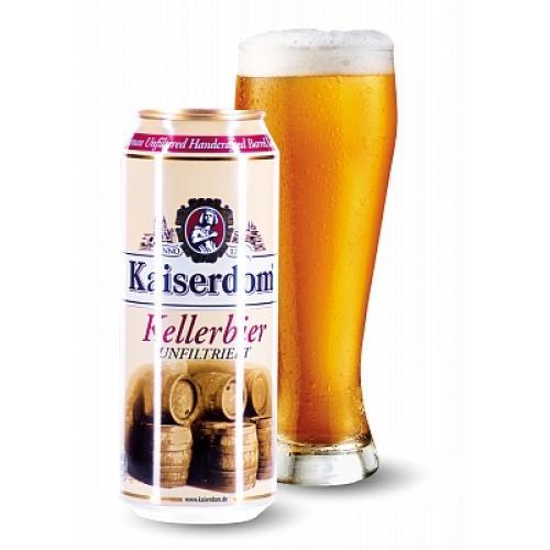 Пиво светлое нефильтрованное Kellebier 0,25л 4,7% ж/б (Германия, Бавария, ТМ Kaiserdom)