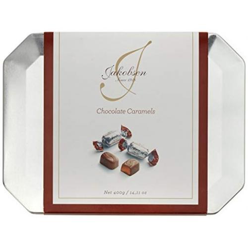 Конфеты пралине Jakobsen Chocolate caramel 400г ж/б (Дания, ТМ Jakobsen)