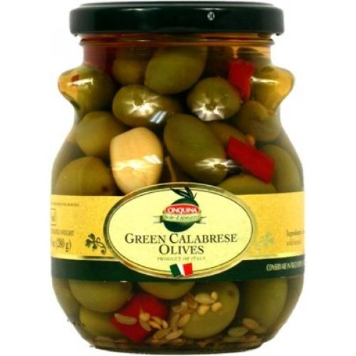 Оливки Cinquina зеленые Cerignola 314г c/к (Италия, ТМ Cinquina)