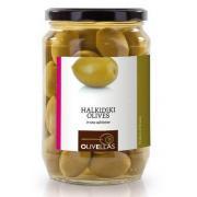 Оливки зеленые Olivellas green фарш. миндалем 370 мл  стекло (Греция, Халкидики, ТМ Olivellas)