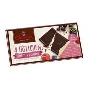 Шоколад Sarotti темный Dark with forest fruit с лесными ягодами 4*25г (Германия, ТМ Sarotti)